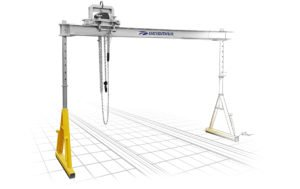 Robust rail changer gantry PSR to substitute or laterally move rails