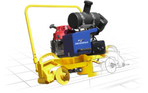 Rail profile grinding machine MP12 made of highly resistant alloy for accurate grinding