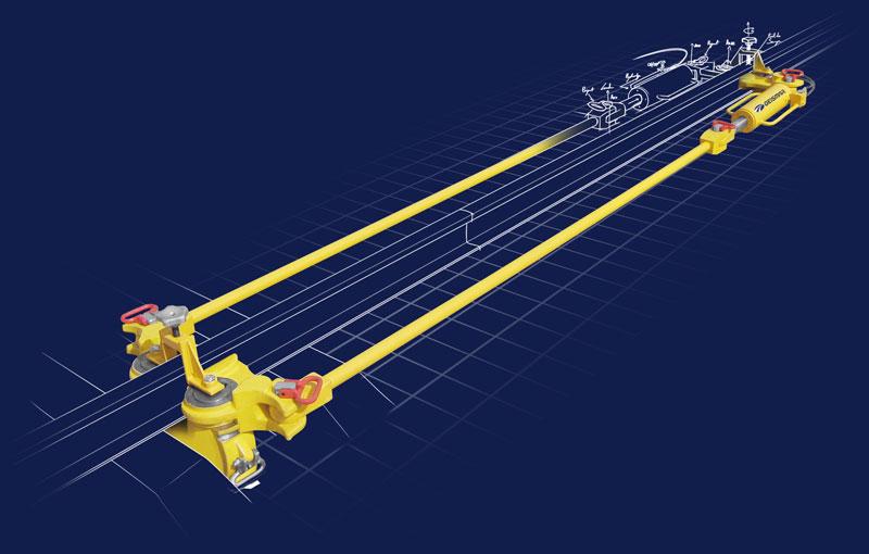 Les tendeurs TH70 et TH120 vous offrent l'avantage d'etre constitués d'éléments légers qui peuvent être assemblés et mis en voie ou démontés en quelques minutes par deux personnes seulement